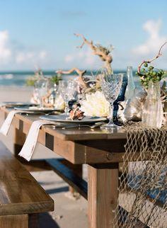 Natural & Eclectic Beach Wedding Ideas via TheELD.com