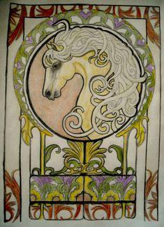 Mika Ingerman 18+ division Art Nouveau Animal Designs Coloring Book Colored Pencil Dover Publications Public Voting Portal