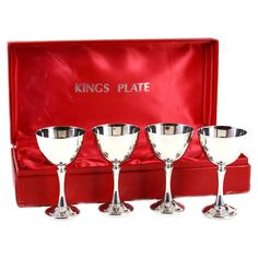 0f5151c2caba Kings Plate Boxed Sherry Set Silver Plated by AudreyWouldVintage Sherry  Glasses