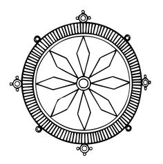 Dharmachakra, or wheel of the law.