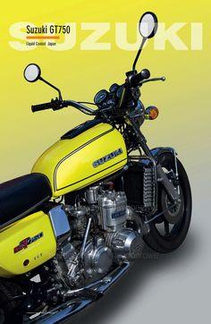 Suzuki GT750 @ theclassicpostercompany.com