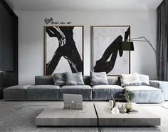 Large Set of 2 Painting, Set of 2 Wall Art Set, Canvas Painting, Hand painted Abstract Painting, Black white brown – Ethan Hill Art – Wanddekoration Painting Inspiration, Interior Inspiration, Living Room Designs, Living Room Decor, Decor Room, Dining Room, Art Mural, Mural Wall, Wall Art Sets