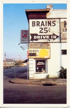 Can't go wrong with donuts and brains.