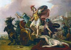 """""""Achilles dragging the body of Hector around the walls of Troy"""", Gavin Hamilton"""