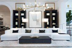 Modern Contemporary Living Room, Living Room Modern, Home Living Room, Living Room Designs, Classic Living Room, Living Room White, Formal Living Rooms, Restoration Hardware Living Room, Modul Sofa