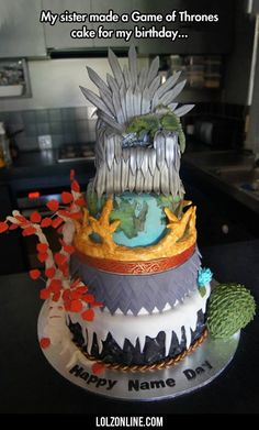My Sister Made A Game Of Thrones Cake...#funny #lol #lolzonline