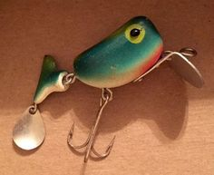 Vintage Unknown Knockoff Frog Spot Heddon Hi-tail Fishing Lure Bass Bait