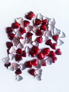 Metal heart nail art studs £1 per pk http://www.charliesnailart.co.uk/metal-heart-studs-100pcs-available-in-3-colours/