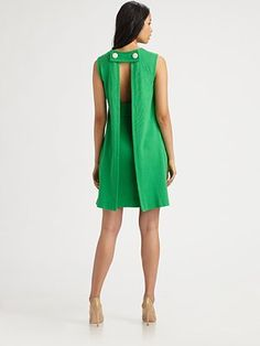 Milly Kristen Button Shift Dress - the back is too cool