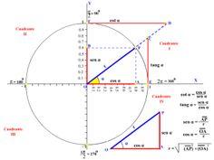 Círculo trigonométrico y funciones trigonométricas 2