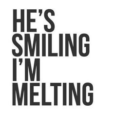 Seriously though. When he smiles at me in that way... one look at those eyes and I can't help but smile and blush. Green eyes have always been my favorite but his take the cake!