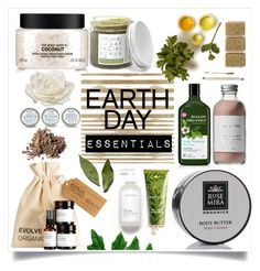"""Earth Day Essentials: Everything Organic!"" by rainisapratami ❤ liked on Polyvore featuring beauty, Élitis, The Body Shop, Forever 21, RAHUA, Rosemira, Dolce&Gabbana, French Girl, Allstate Floral and natural"