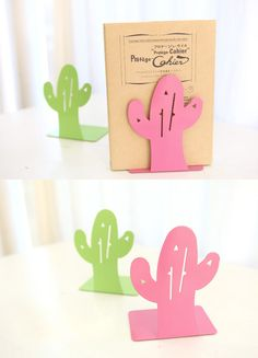 Cactus Bookend not only helps organize my books together so they won't get messy, but the color and adorable design make it a really good decoration in my room!