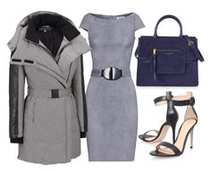 Grey & Blue Leather by carolineas on Polyvore featuring polyvore, fashion, style, Jitrois, La Marque, Gianvito Rossi, Marc Jacobs and clothing