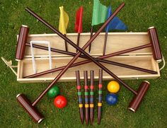Garden Games Ireland stock the best croquet sets in Ireland and the UK. Shop for luxury croquet sets now such as this classic royal york boxed croquet set. There is free delivery on this luxury croquet set. Four X, Garden Games, Backyard Games, Social Games, Great Father's Day Gifts, Traditional Games, Lawn Games, 5 Gifts, Toys