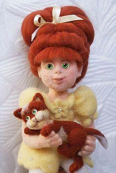 Валяная кукла, автор Иванова Лариса Викторовна, магазин: http://www.livemaster.ru/larisaiv