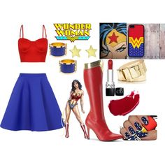 """""""Wonder Woman Outfit"""" with a different top"""
