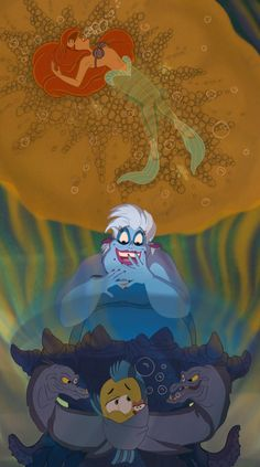 Poor Unfortunate Souls by LisaGunnIllustration on DeviantArt Taking a quick break from DRAWTOBER to bring you another scene from The Little Mermaid - Ariel's Transformation Scene as asked for by Ursula Disney, Disney Pixar, Mermaid Disney, Disney Little Mermaids, Disney Songs, Arte Disney, Ariel The Little Mermaid, Disney Fan Art, Disney Villains