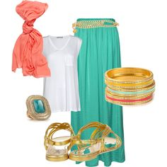 Cute and comfy summer outfit. I want this especially because of the teal