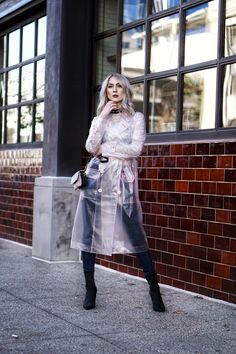 Raincoats We're Obsessed With Black Raincoat, Raincoat Outfit, Hooded Raincoat, Vinyl Raincoat, Pvc Raincoat, Stylish Raincoats, Raincoats For Women, Rain Wear, Casual Street Style