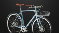 I like the handlebars. Steel frame could be nice for city. Can choose between single speed or 9 speed. Don't love the front rack though.