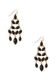 Faux Stone Chandelier Drop Earrings | FOREVER21 - 1000125207