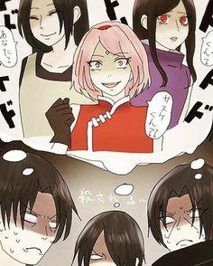 Uchiha woman are deadly when angry. Sasuke Uchiha, Anime Naruto, Naruto Fan Art, Naruto Comic, Naruto Cute, Naruto Girls, Naruto Shippuden Sasuke, Naruto And Hinata, Otaku Anime