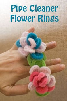 Life with Moore Babies: Pipe Cleaner Flower Rings