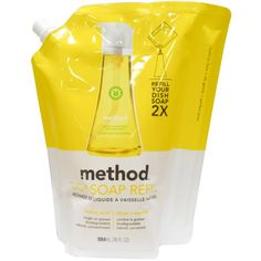 Метод, мыльница Заправка, лимон мята, 36 жидких унций (1064 мл) #iHerb 10% OFF with code SJS024