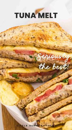 This tasty, toasted tuna melt sandwich is hot, melty, and stuffed with a perfectly seasoned tuna salad. Perfect for lunch, or dinner! Tuna Melt Sandwich, Tuna Melts, Best Lunch Recipes, Summer Recipes, Tuna Melt Recipe, Cheap Dinners, Bowl Of Soup, Instant Pot Pressure Cooker, Weeknight Meals