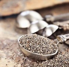 Spoonful Of whole Chia Seeds