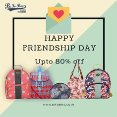 A toast to your friendship. Celebrate friendship day with a perfect gift. Offer valid only till midnight #friendshipday #gifts #bags #offers