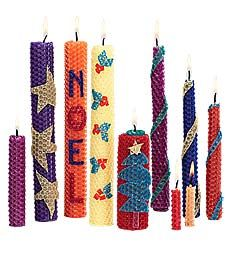 Beeswax Candle Kit with Multi-Colored, Scented Wax Sheets