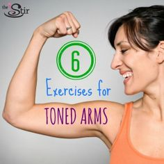 6 exercises for toned arms - Get your biceps and triceps in shape for summer's tank-top weather! Fitness Nutrition, Fitness Tips, Fitness Motivation, Rogue Fitness, Arm Toning Exercises, Biceps And Triceps, Toned Arms, Stay In Shape, Tone It Up