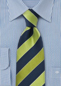 Blue and Green Tie