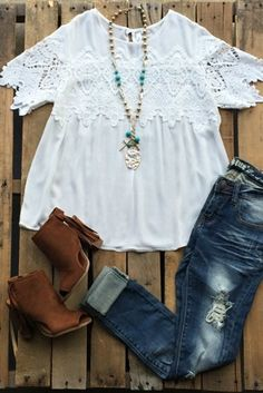 Still Into You Top - Off White $36.99! #southernfriedchics