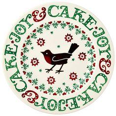 Buy Emma Bridgewater Christmas Joy Robin Plate, 22cm Online at johnlewis.com