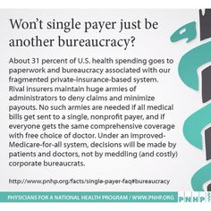 Single Payer Health Care
