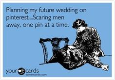 ahaha, I wish I would have had pinterest back when planning my wedding