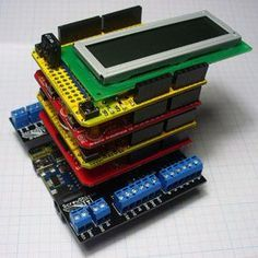 You've bought an Arduino starter kit, you've followed all the basic guides, but now you've hit a stumbling block - you need more bits and bobs to realise your electronics dream. Luckily, if you have an Arduino board, you can simply stack functionality on top in the form of Shields.