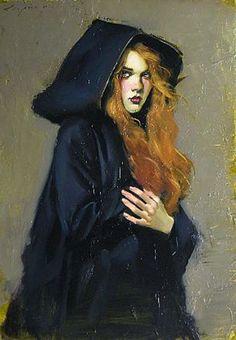 "ghoulnextdoor: "" Malcolm Liepke - 'Indigo Robe', 2011 """
