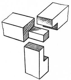 Fig. 57.—Cross Rail and Upright Halved Joint.