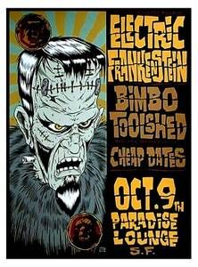 Electric Frankenstein - RARE Limited Edition Concert Poster