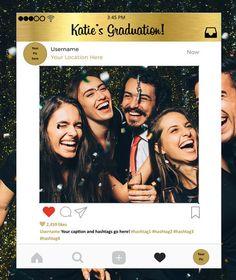 Custom Instagram Frame in Gold Photo Booth Prop Instagram Prop