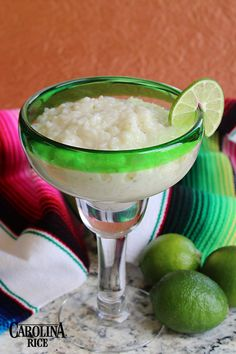 Margarita Rice Pudding made with tequila and orange flavored liqueur.