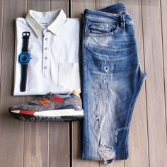 Streetstyle in Diesel, New Balance & Seven Friday