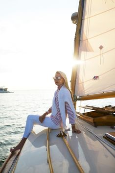 Nautical Outfits, Nautical Fashion, Nautical Style, Sailing Outfit, Boating Outfit, Beach Style, Seaside Style, Breton Stripe Shirt, Fashion Sites