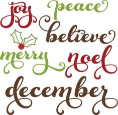 Christmas Words SVG