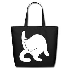 White Cat Eco-Friendly Cotton Tote Natural Cotton Canvas Tote, 100% cotton, Brand: ECOBAGS
