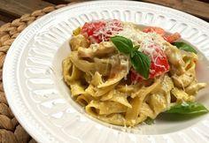 8 nagyon finom csirkés tészta 30 percen belül | NOSALTY Tortellini, Bologna, Pasta Salad, Pesto, Waffles, Spaghetti, Breakfast, Ethnic Recipes, Food